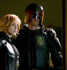 Dredd and his girly side-kick.