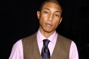 Pharrell is drinking blood to look this young--he's actually 40.