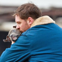 tom hardy and puppy
