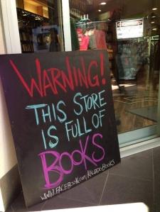 warning full of books