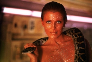 """Watch her dance with ze snake who vants to haf his vay with her."""