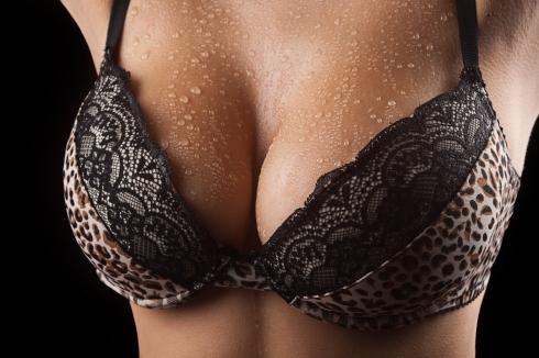 Sweaty breasts