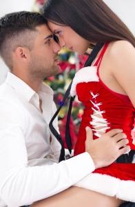 Sexy holiday couple