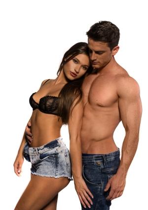 Black bra sexy couple