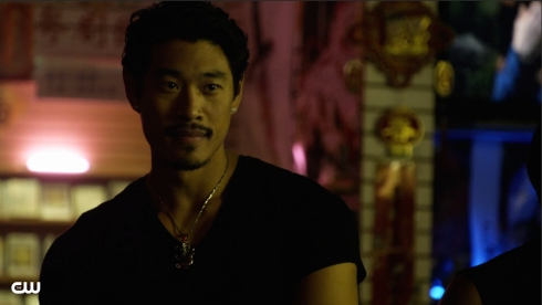 Tim Chiou was a bad guy on an episode -- a hot, mouth-watering bad guy.