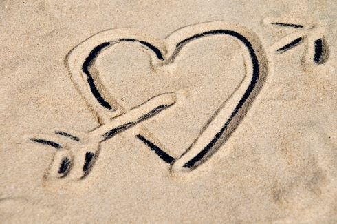 Love letters in the sand, anyone?