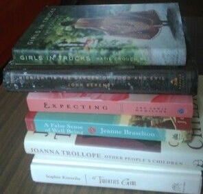 Oh, so you're one of those readers who likes women's fiction, eh? Here's a stack for you!
