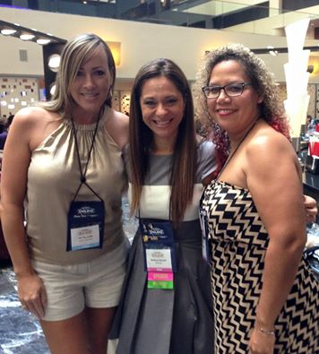 Heres Kimberly Kincaid at RWA in the middle of what she calls a 'hot lady sandwich'.