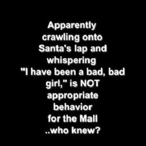crawling into santa's lap