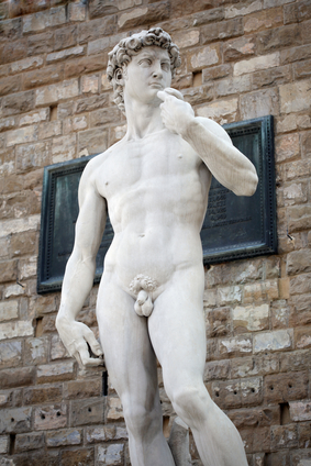 Michelangelo's David in Florence Tuscany