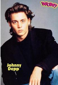 Tiger Beat would tell you why Johnny looks so serious here.