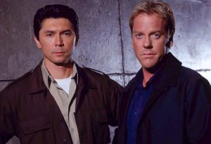 Reunited sure feels good to me! Kiefer and Lou Diamond Phillips look like Young Guns just happened.